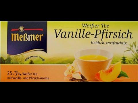 Weißer Tee / Vanille Pfirsich - Meßmer (Tea Test)
