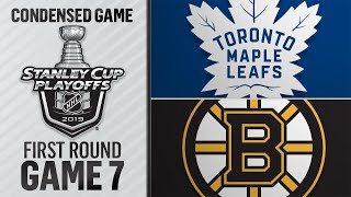 04/23/19 First Round, Gm7: Maple Leafs @ Bruins by NHL