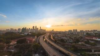Time-lapse: A Sunset in The Kuala Lumpur city