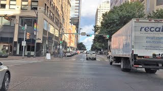Austin (TX) United States  city photo : Driving Downtown - Austin's Nightlift Street - Austin Texas USA