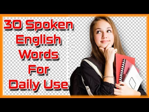 30 English Spoken Words For Daily Use
