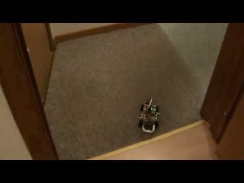 mit Robot Electronics Autonomy - Autonomous robot localizes itself and follows the path to goal. It uses the Sharp range sensor and an electronic compass. Software is running on a laptop and...