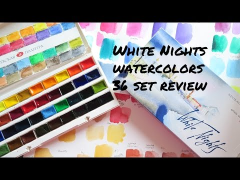St. Petersburg White Nights Watercolors 36 Pans Review