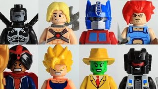 80s/90s cartoons Custom Lego  minifigures showcase ft Transfor...