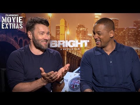 Bright (2017) Will Smith & Joel Edgerton talk about their experience making the movie (видео)