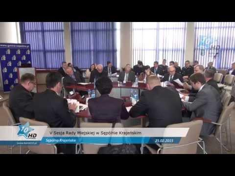 V Sesja Rady Miejskiej w Sępólnie Krajeńskim, 25.02.2015 r.