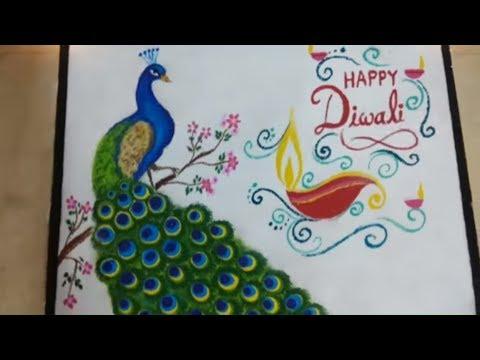 Video Peacock Rangoli Design : Awesome PEACOCK rangoli design with bowl Gudipadwa rangoli design download in MP3, 3GP, MP4, WEBM, AVI, FLV January 2017