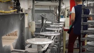 We visited the Evans Drumheads factory and, essentially, got in the way whilst people were trying to work. The idea was to record how a drumhead is made. Some processes we weren't allowed to film. For more photos and a written commentary, check out the Evans Drumheads feature in Issue 11 of The Drummer's Journal, which is free at: http://www.thedrummersjournal.com/issues/#/issue-11/