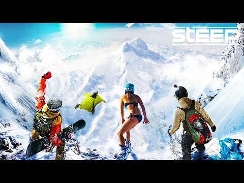 STEEP: TEAM GO PRO!! - Steep Wingsuit, Skying & Snowboarding - Steep Multiplayer Gameplay