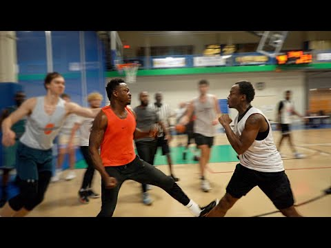 HUGE FIGHT Breaks Out After Trash Talker Did This... 5v5 Basketball!
