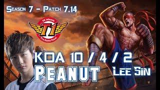 SKT T1 Peanut LEE SIN vs KHA'ZIX Jungle - Patch 7.14 KR Ranked ↓↓↓ Runes & Masteries ↓↓↓ GAME TYPE: Ranked Solo...