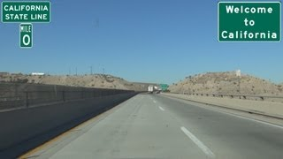 Needles (CA) United States  city photos gallery : I-40 Westbound in Arizona into Needles, California