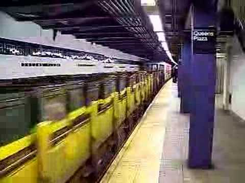 MustangFan424 - This is a video I took of a Garbage Train departing Queens Plaza.