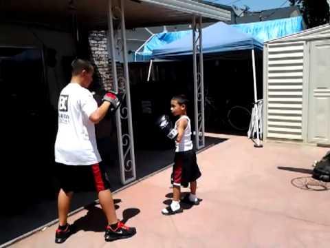 6yr old boxer Tyson Bonilla.