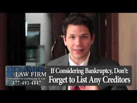 Orlando Bankruptcy Lawyer - 5 Things not to do if Considering Bankruptcy