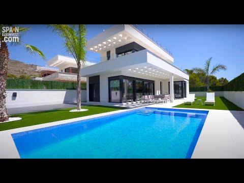Новая вилла в Бенидорме/Хай-тек/Новый дом в Сьерра Кортине/Недвижимость в Испании 2020/Коста Бланка