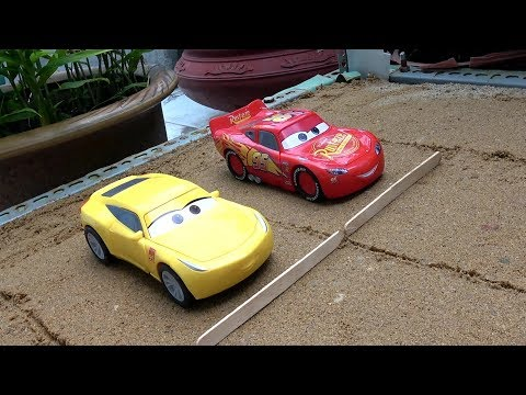 Disney Cars Lightning Mcqueen and Cruz Ramirez Race Toys   Learn Colors, Numbers for Children