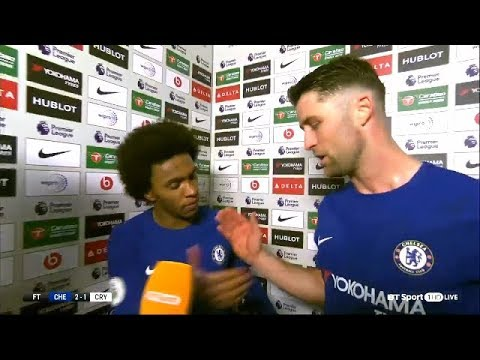 Gary Cahill & William post match interview   Chelsea 2-1 Crystal Palace   Premier League   BT Sport
