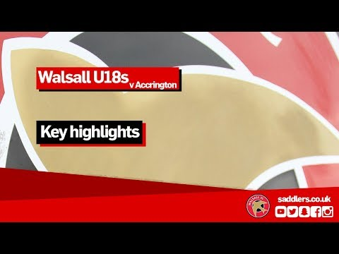U18s HIGHLIGHTS | Accrington Stanley 1-0 Walsall