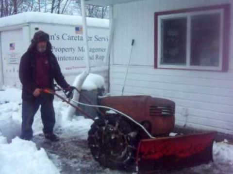 david bradley tractor - After getting about 10 to 12 inches of snow on top of 4 inches of Slushy mix, the Snow blower was definitely NOT up to the task and even the sears Suburban s...