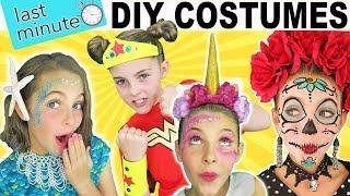 Last Minute DIY Halloween Costumes   Mermaid Unicorn Wonder Woman   Kids Cooking and Crafts