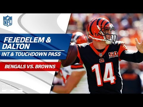 Video: Andy Dalton's 2nd TD Pass Set Up by Clayton Fejedelem's Huge INT! | Bengals vs. Browns | NFL Wk 4