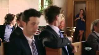 Blue Mountain State - The goats go to church (funny scene!).