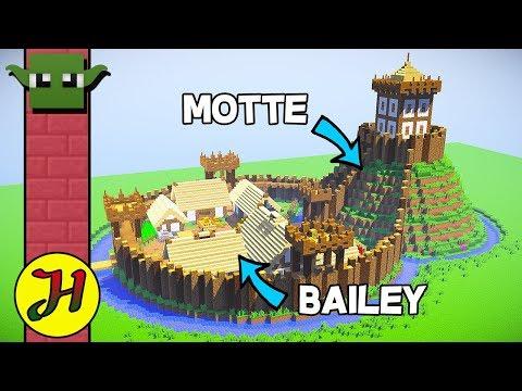 Minecraft Tutorial: Motte & Bailey Castle (Survival Village) - Part 1/2 (видео)