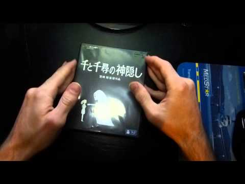 Spirited Away Japanese Release Blu-ray Unboxing