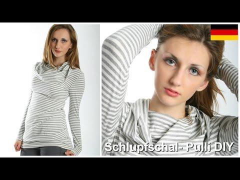 Loop/Schlupfschal/ Infinity Schal mit Pulli selber nähen