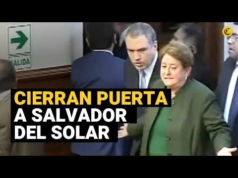 Caos en el Congreso: Impiden ingreso de Salvador Del Solar y sus ministros