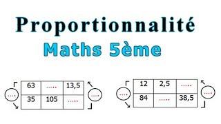 Maths 5ème - La proportionnalité Exercice 4