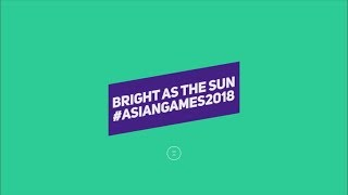Bright As The Sun - Asian Games 2018 Themesong Live Stage