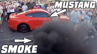 Diesel SMOKES a Mustang GT350! by 1320Video