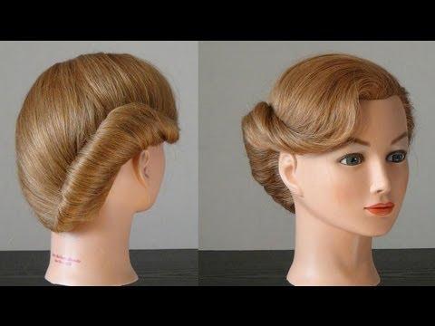 Прическа ракушка для средних волос