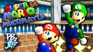 Mario 64 Two Player Co-Op/Multiplayer Hack gameplay/let's play! Subscribe to see every PB&Jeff video! ▻ http://bit.ly/13miG2p...