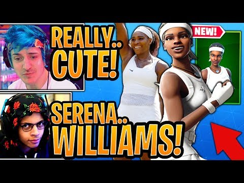 "Streamers React To *NEW* Serena Williams ""MATCH POINT"" Skin! - Fortnite Moments"