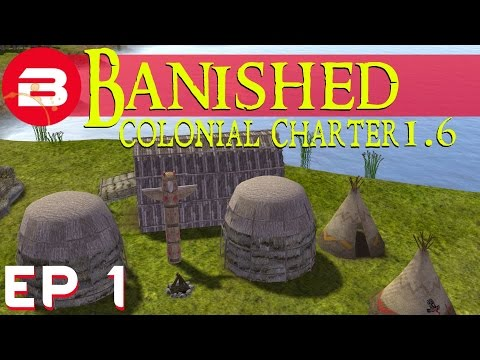 Banished Colonial Charter 1.6 - Native Village - S02E01 (Gameplay W/Mods)