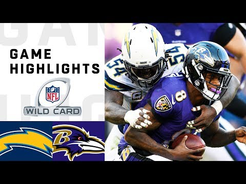 Chargers vs. Ravens Wild Card Round Highlights   NFL 2018 Playoffs