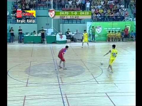 Futsal Hiệp 1: ĐH Phương Đông HN – ĐH Công Đoàn HN