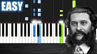 Strauss - The Blue Danube - EASY Piano Tutorial