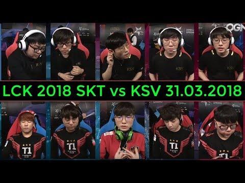 Những Pha Highlights LCK 2018 Giữa SKT vs KSV 31.03.2018