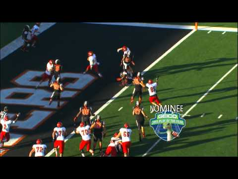 Vernon Adams Jr. 3-yard touchdown run vs Oregon St. 2013 video.
