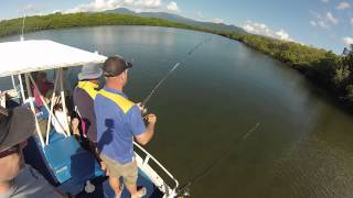 ESTUARY FISHING IN TRINITY INLET CAIRNS IN FAR NORTH QUEENSLAND AUSTRALIA