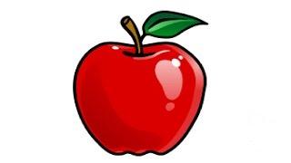 Видео: как нарисовать яблоко