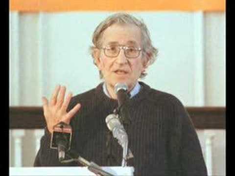 "Chomsky refutes ""libertarian"" ""anarcho""- capitalism"