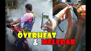 Video Burnout NONSTOP Sampe Mesin Overheat & Meled4k ! MP3, 3GP, MP4, WEBM, AVI, FLV Juni 2019