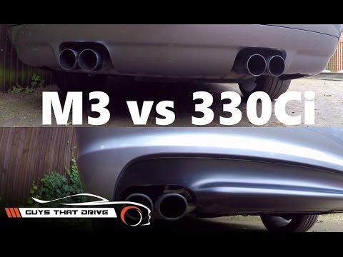 BMW E46 M3 vs E46 330Ci part 2, sound comparison stock exhausts | The GTD Garage