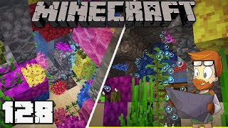 Building with fWhip : UNDERWATER CAVE BASE #128 MINECRAFT 1.13 Let's Play Single Player Survival