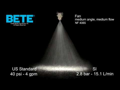 NF 4065 - Medium Angle, Medium Flow Fan Spray Pattern Video
